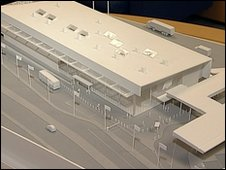 A model of the new passenger terminal