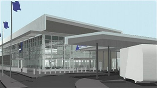 An artist's impression of the new passenger terminal