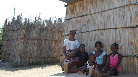 Ana Tembe and children