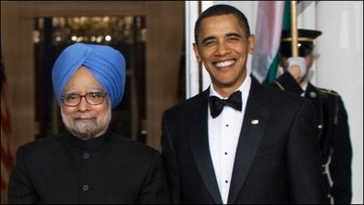 Manmohan Singh with Barack Obama