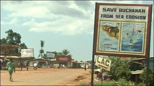 Poster in Liberia