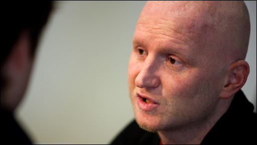 Former footballer John Hartson who is recovering from testicular cancer