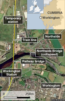 Map showing the location of the new station