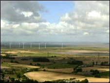 Artist impression of the Frodsham windfarm (Pic: Peel Energy)