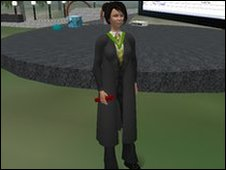 virtual student in Second Life