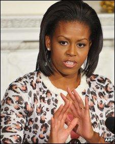 Michelle Obama at White House on 2 November 2009