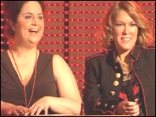 Cerys Matthews with actress Ruth Jones on BBC Children in Need night