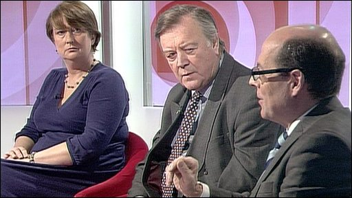 Jacqui Smith, Ken Clarke and Nick Robinson