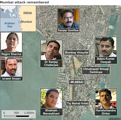 Mumbai map with people involved