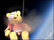 Pudsey goes ballooning in the stratosphere
