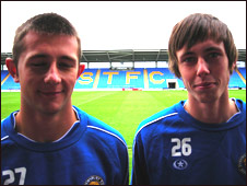 Waide Fairhurst (left) and Jamie Devitt