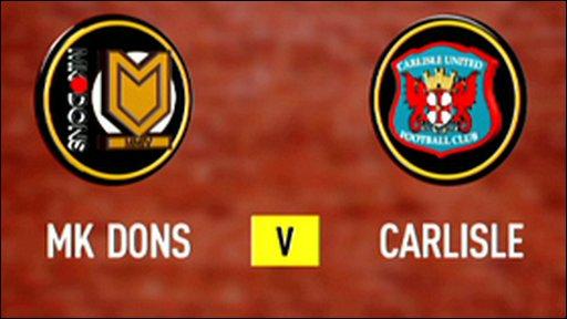 MK Dons 3 - 4 Carlisle