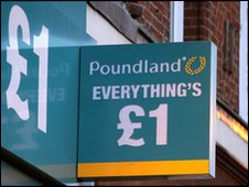 Pound shop sign