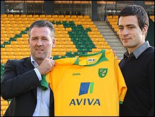Paul Lambert and Russell Martin at Carrow Road (Picture: Norwich City Football Club)