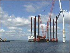 Wind farm on the Kentish Flats
