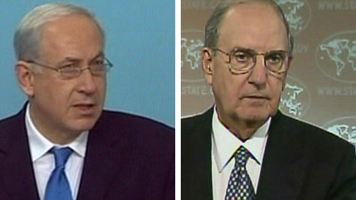 Benjamin Netanyahu and George Mitchell