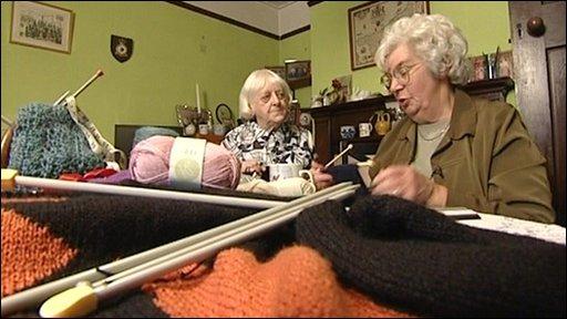 Grannies knitting