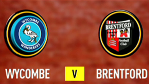 Wycombe 1-0 Brentford