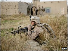 US Marines in Helmand Province 22.11.09