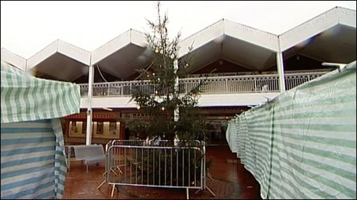Peterlee's 'tatty' Christmas tree