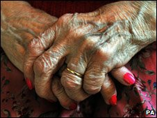 Older woman's hands