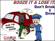 A poster against drink driving in Delhi