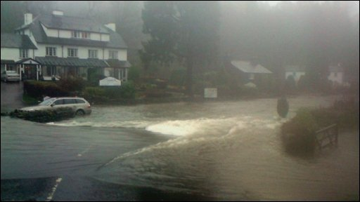 Flooding at Skelwith Bridge