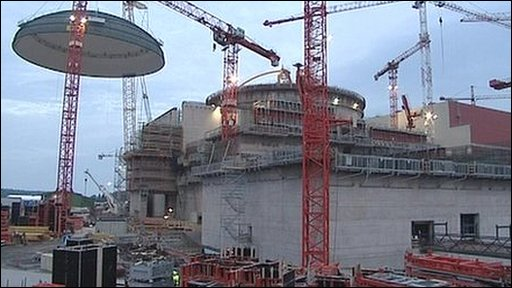 Olkiluoto reactor under construction in Finland