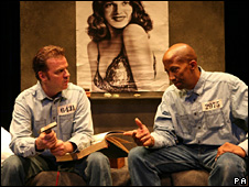 Kevin Anderson (left) as Andy and Reg E Cathey as Red in Shawshank Redemption