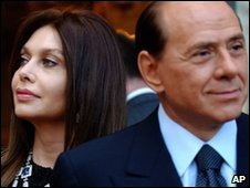 File image of Veronica Lario and Silvio Berlusconi