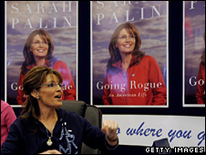 Former US vice-presidential candidate Sarah Palin