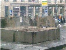 Site where the statue of the Ukrainian political leader Hryhoriy Petrovsky once stood