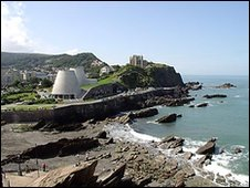 Ilfracombe coast and Landmark Theatre