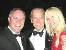 Michaele and Tareq Salahi at the White House with Vice-President Joe Biden