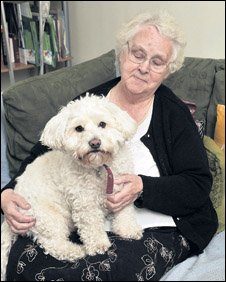 Nan Henry and Boris (picture courtesy of leaderlive.co.uk)