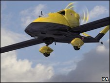Unmanned military-style drone