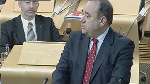 Alex Salmond answers questions from MSPs