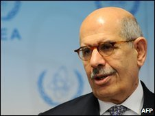 Mohamed ElBaradei, pictured in Vienna on 25 November 2009