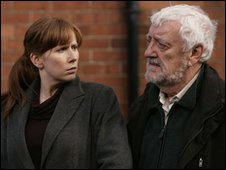 Catherine Tate and Bernard Cribbins in Doctor Who