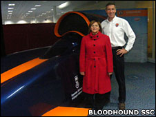 Andy and Northern Cape premier (Bloodhound SSC)