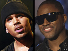 Chris Brown and Taio Cruz