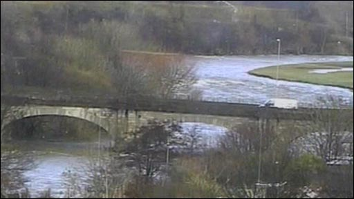 Van driving over Calva Bridge