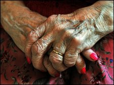 Generic elderly woman's hands