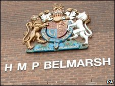 Belmarsh Prison sign