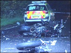 Scene of the crash on the B3227