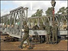Soldiers with Logistic Support Bridging