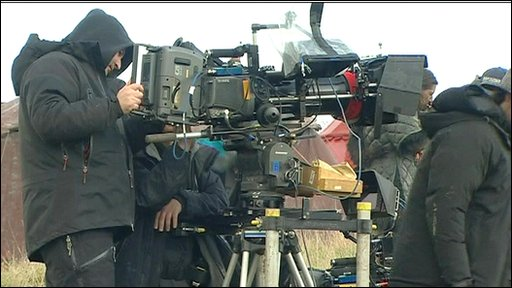 Filming in Wales