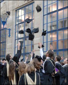 Graduates on Graduation Day