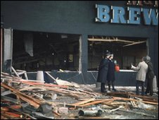Birmingham bomb blast 1974 - Scene of the devastation after IRA attack