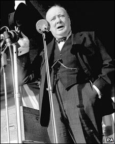 Winston Churchill speaking, London (1945)